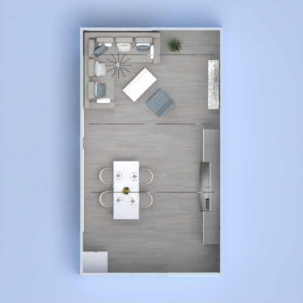 floorplans haus wohnzimmer küche 3d