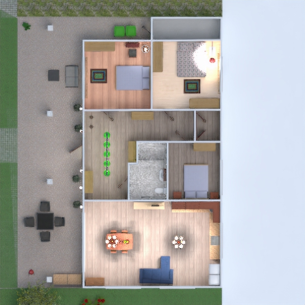 floorplans house terrace 3d