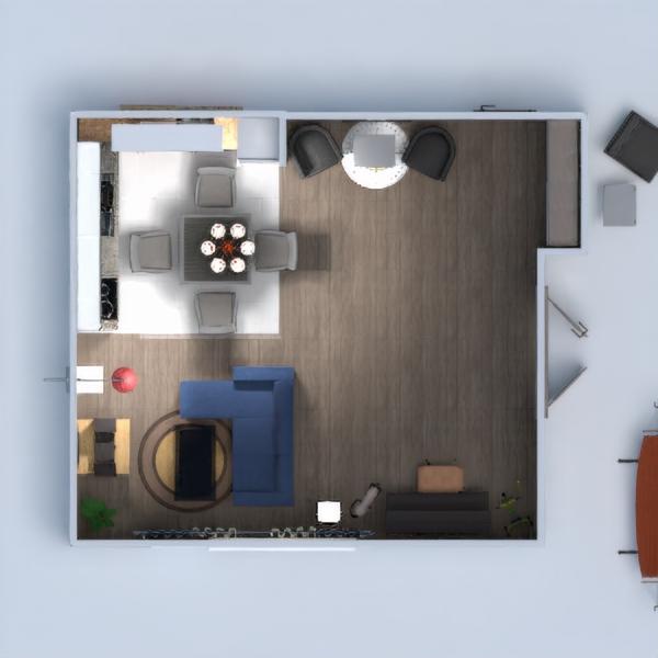 floorplans salon salle à manger 3d