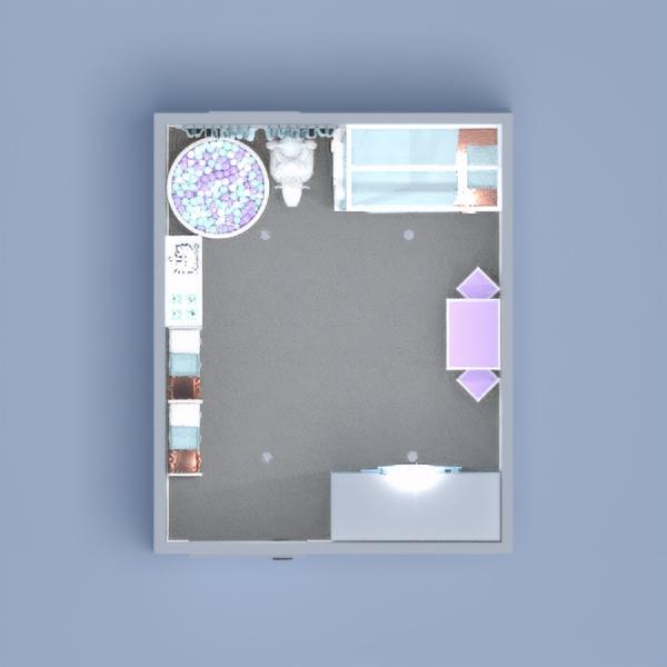 floorplans dekoras vaikų kambarys sandėliukas 3d