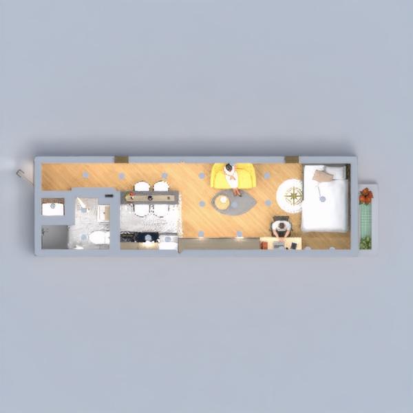 floorplans bagno camera da letto rinnovo architettura monolocale 3d
