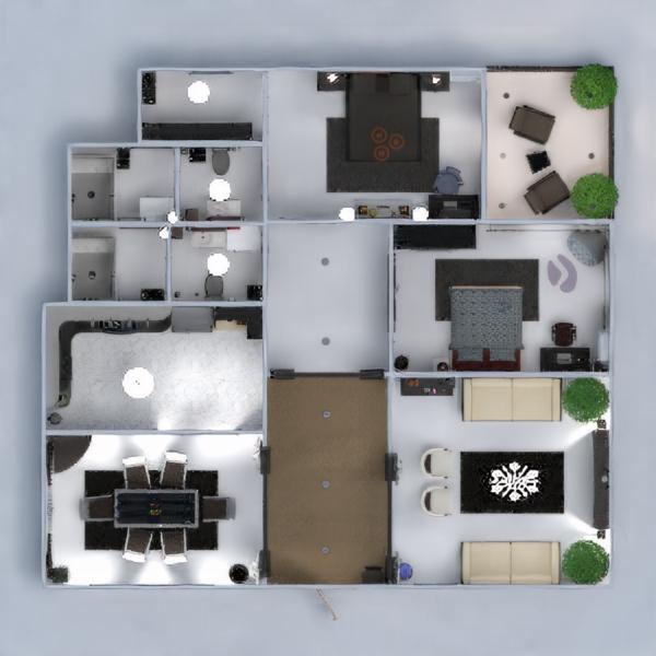 floorplans apartment terrace furniture decor bedroom living room renovation household dining room 3d