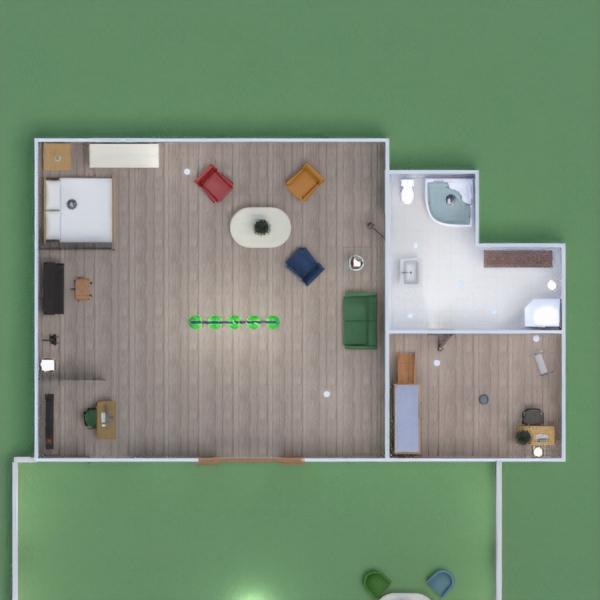 floorplans haus terrasse mobiliar wohnzimmer garage 3d