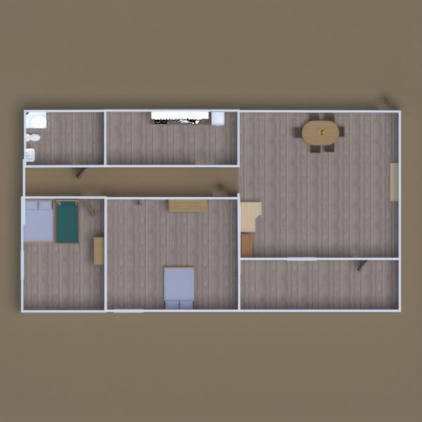 floorplans apartamento casa de banho dormitório iluminação sala de jantar 3d