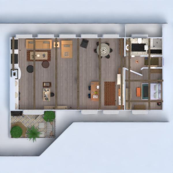 floorplans apartment terrace bathroom bedroom living room kitchen dining room 3d