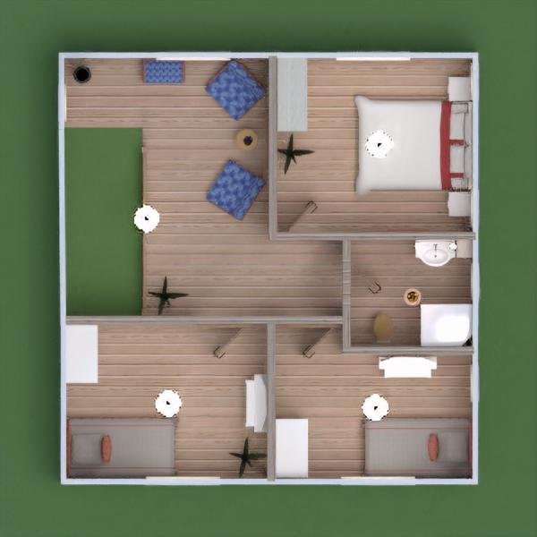 floorplans casa varanda inferior mobílias decoração casa de banho dormitório quarto garagem cozinha área externa iluminação paisagismo sala de jantar patamar 3d