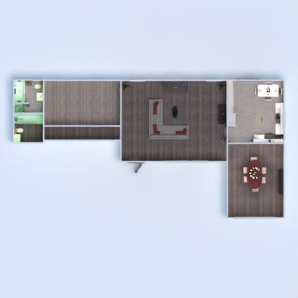 планировки дом сделай сам ванная гостиная кухня 3d