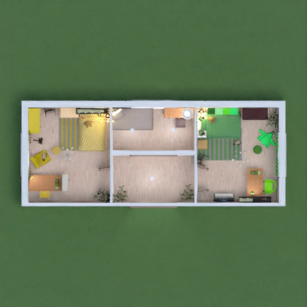 floorplans furniture decor bedroom kids room architecture 3d