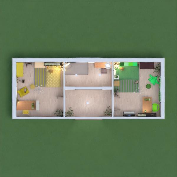 floorplans muebles decoración dormitorio habitación infantil arquitectura 3d