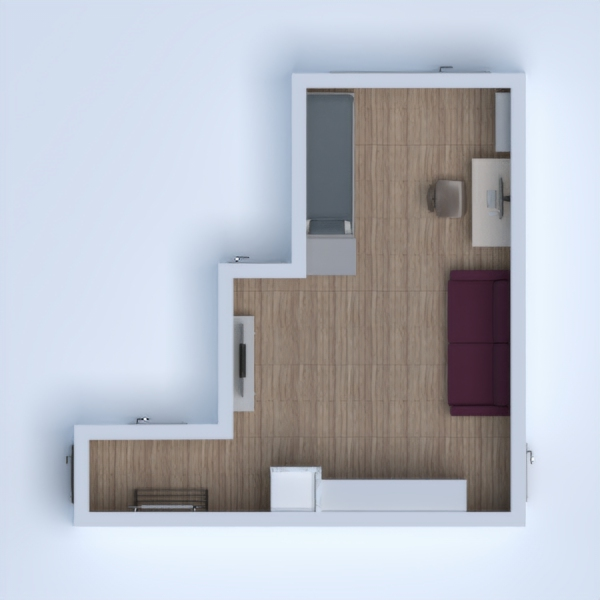 floorplans apartamento salón 3d