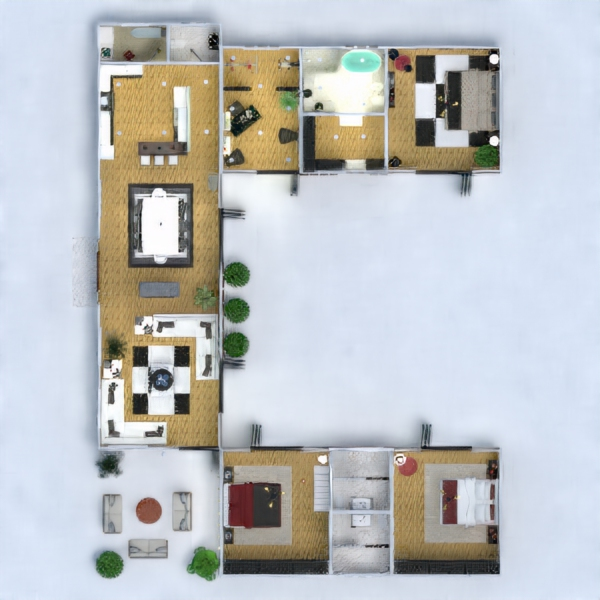floorplans house terrace furniture decor bathroom bedroom living room garage kitchen outdoor lighting landscape household dining room architecture studio 3d