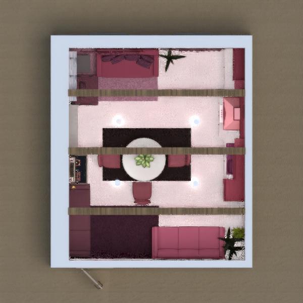 floorplans muebles decoración salón cocina iluminación 3d