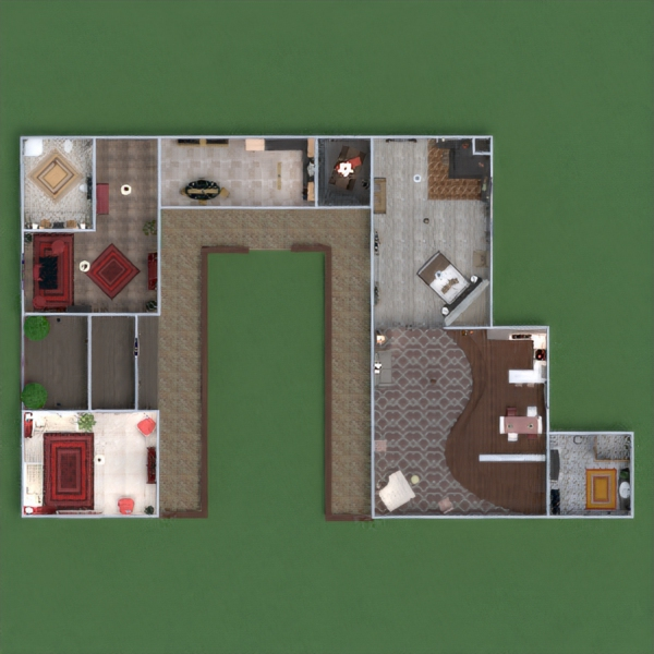 floorplans apartment house terrace architecture 3d