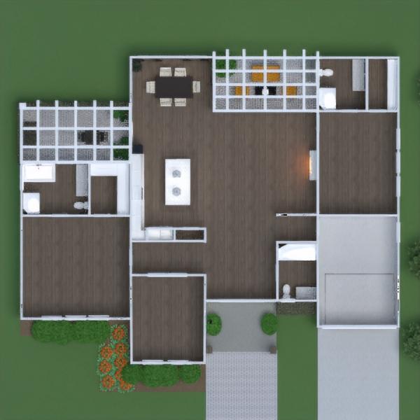 floorplans дом терраса мебель гостиная кухня улица освещение ремонт техника для дома столовая прихожая 3d