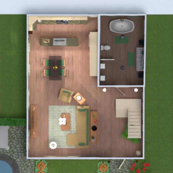 floorplans eksterjeras vaikų kambarys аrchitektūra sandėliukas 3d