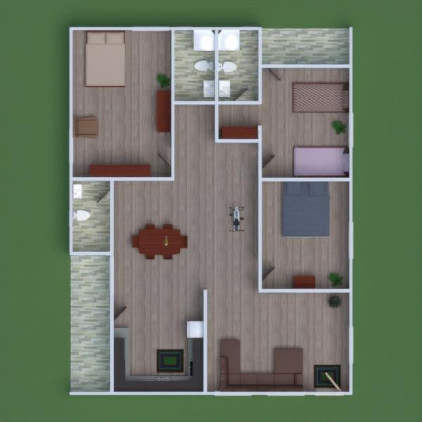 floorplans apartamento bricolaje cuarto de baño dormitorio salón 3d
