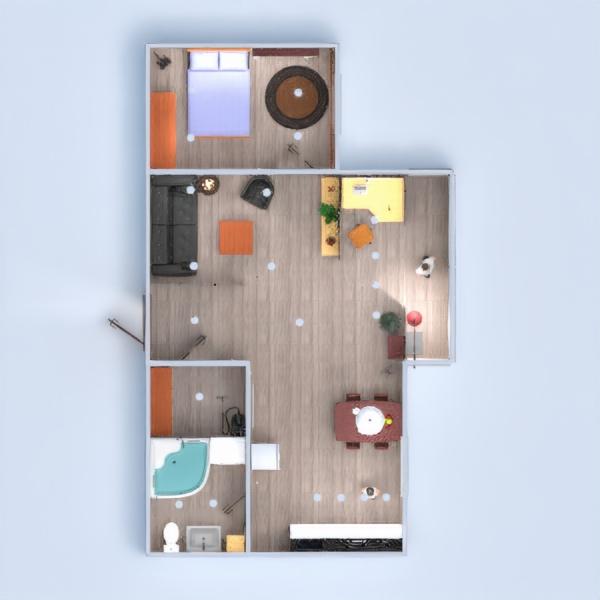 планировки квартира ванная спальня гостиная кухня студия прихожая 3d