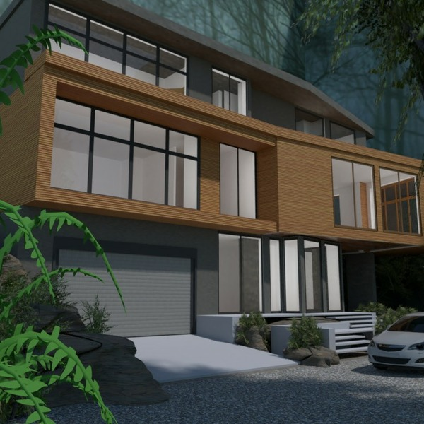 floorplans house terrace garage outdoor architecture 3d
