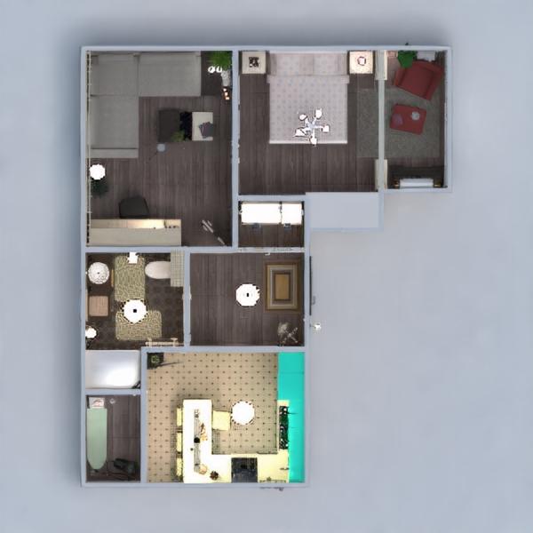 planos apartamento muebles decoración bricolaje cuarto de baño dormitorio salón cocina despacho iluminación reforma trastero descansillo 3d