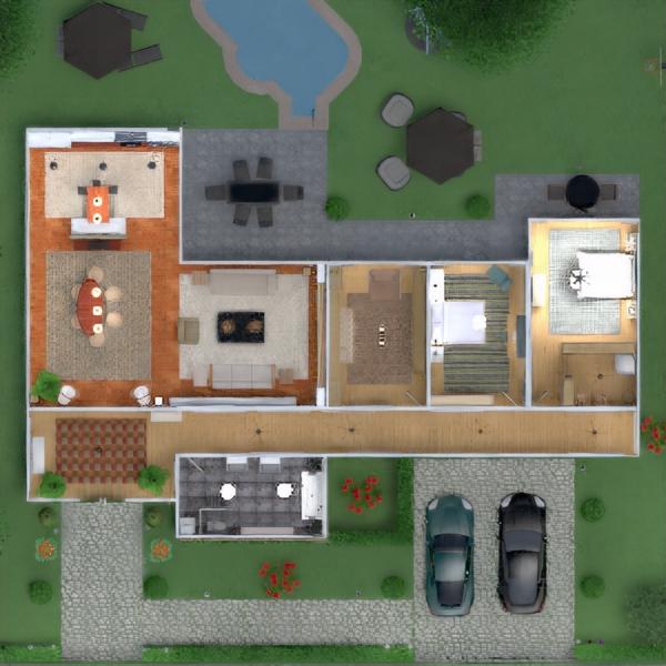 floorplans casa terraza muebles bricolaje cuarto de baño dormitorio salón garaje cocina exterior habitación infantil iluminación paisaje hogar comedor arquitectura estudio descansillo 3d