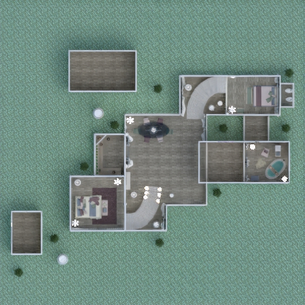 floorplans apartment terrace furniture decor lighting 3d