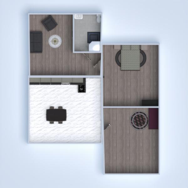 floorplans salle de bains chambre à coucher salon chambre d'enfant salle à manger 3d