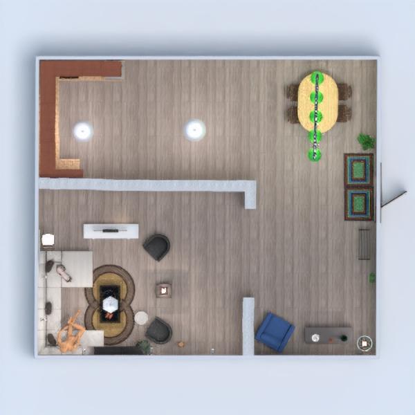планировки дом мебель гостиная кухня техника для дома 3d