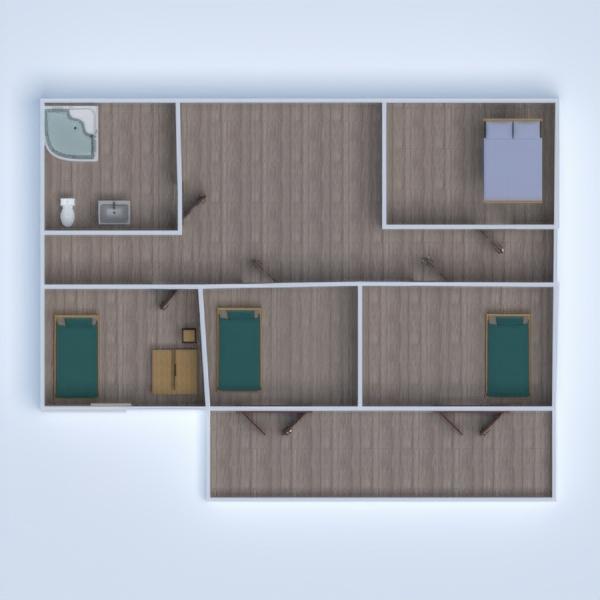 floorplans casa varanda inferior arquitetura 3d
