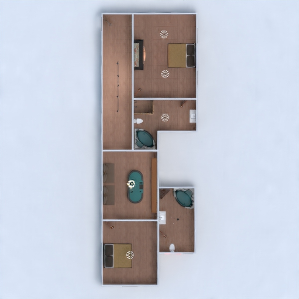floorplans house terrace outdoor architecture 3d