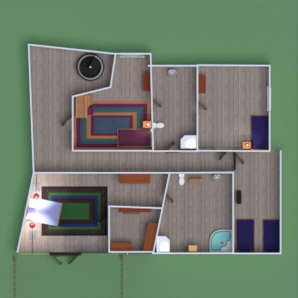 floorplans casa habitación infantil paisaje hogar comedor 3d