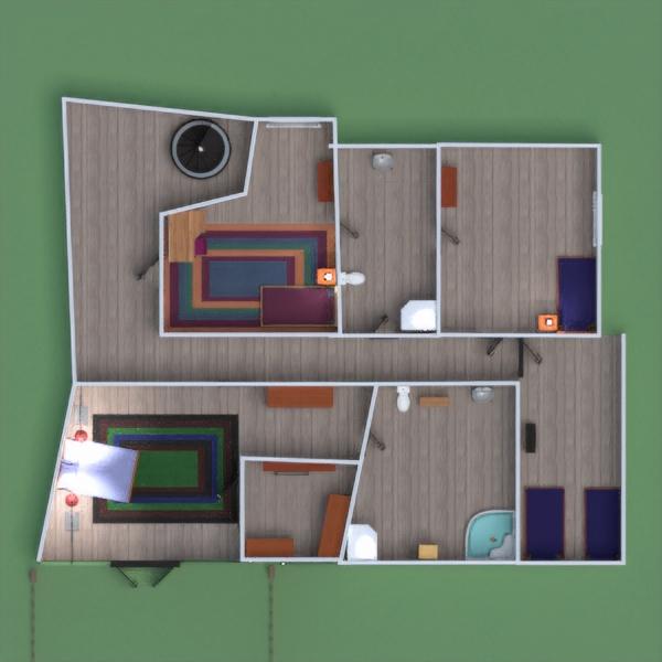 floorplans namas vaikų kambarys kraštovaizdis namų apyvoka valgomasis 3d
