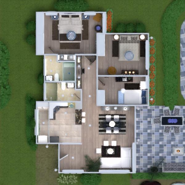floorplans namas terasa baldai dekoras vonia miegamasis svetainė garažas virtuvė eksterjeras vaikų kambarys biuras apšvietimas kraštovaizdis namų apyvoka valgomasis аrchitektūra 3d
