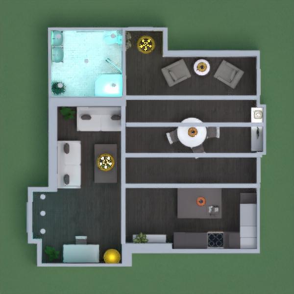 floorplans dom łazienka pokój dzienny kuchnia oświetlenie 3d