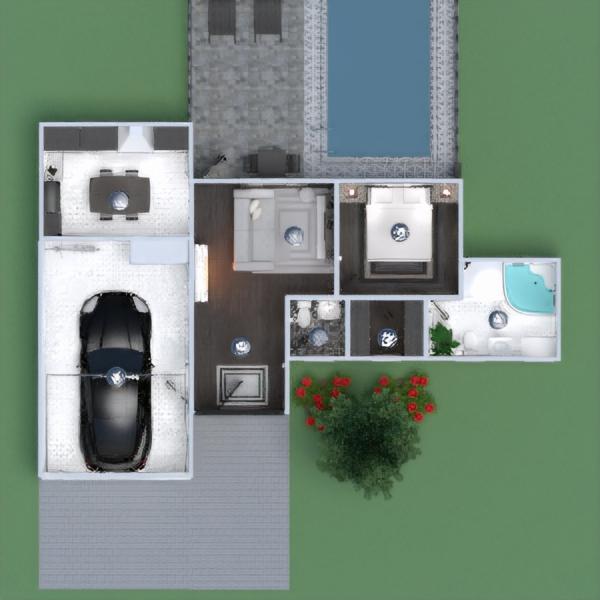 floorplans casa cuarto de baño dormitorio cocina comedor 3d