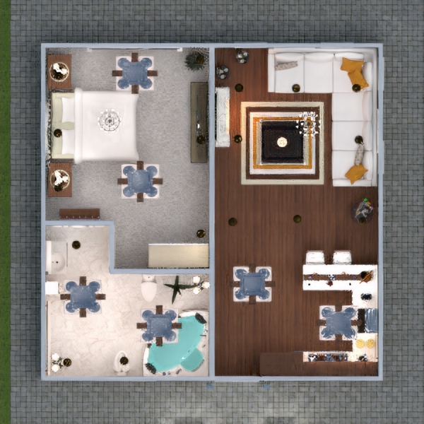 floorplans wohnung mobiliar dekor badezimmer schlafzimmer wohnzimmer 3d
