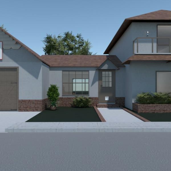 floorplans dom garaż na zewnątrz architektura 3d