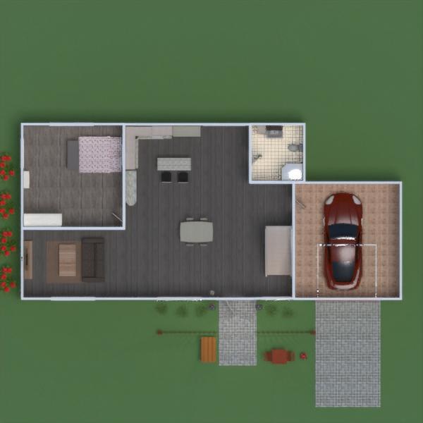 floorplans apartment house furniture bathroom bedroom living room garage kitchen outdoor office dining room 3d