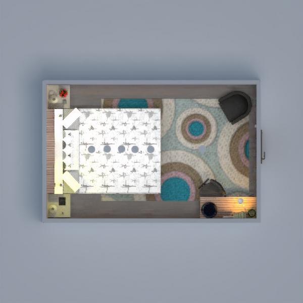 floorplans meble sypialnia pokój diecięcy oświetlenie mieszkanie typu studio 3d