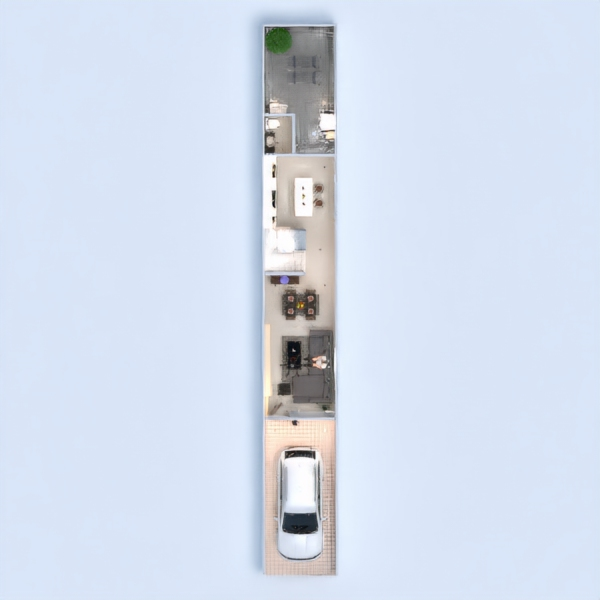 floorplans apartamento casa terraza muebles decoración salón garaje cocina exterior 3d