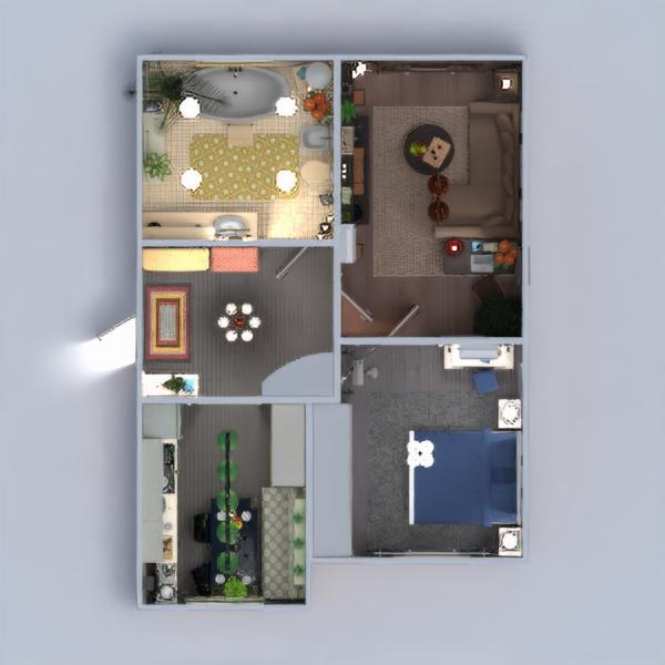 floorplans mieszkanie meble wystrój wnętrz zrób to sam łazienka sypialnia pokój dzienny kuchnia oświetlenie przechowywanie wejście 3d