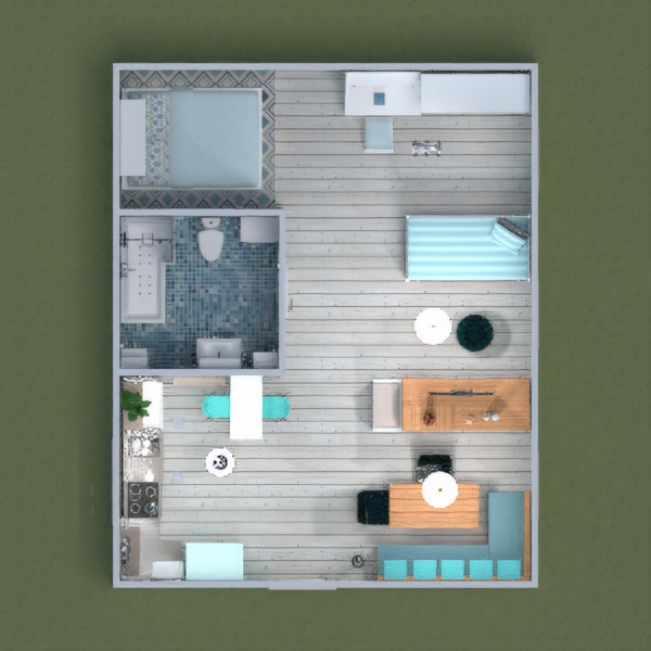 floorplans apartment furniture living room kitchen 3d