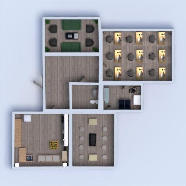 floorplans casa de banho quarto cozinha escritório estúdio 3d