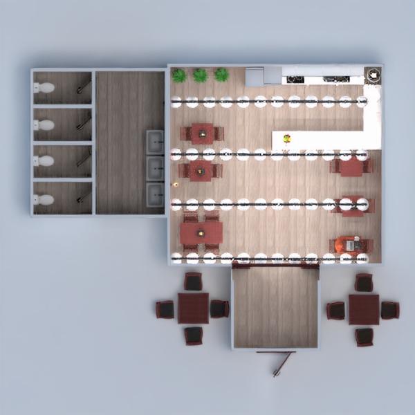 floorplans dekoras apšvietimas kavinė аrchitektūra 3d