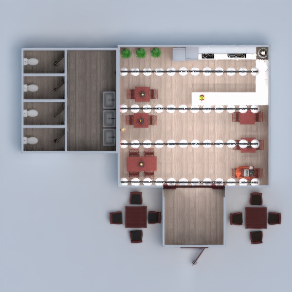 floorplans decor lighting cafe architecture 3d