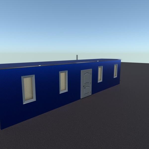 floorplans biuras valgomasis sandėliukas 3d