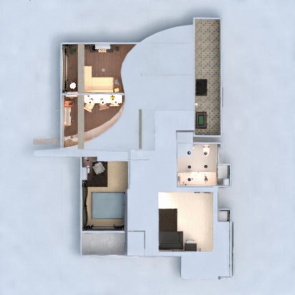 floorplans wohnung mobiliar dekor do-it-yourself badezimmer schlafzimmer wohnzimmer küche beleuchtung renovierung esszimmer lagerraum, abstellraum studio eingang 3d