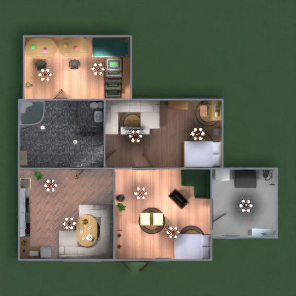 floorplans casa cuarto de baño dormitorio salón habitación infantil 3d