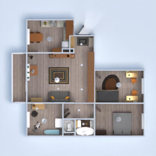 floorplans apartamento muebles decoración cuarto de baño dormitorio salón cocina habitación infantil 3d