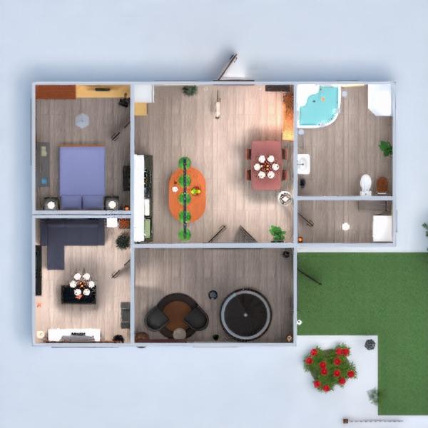 floorplans dom meble oświetlenie 3d