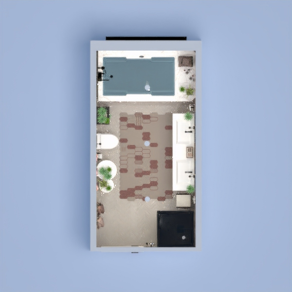 floorplans dom meble wystrój wnętrz łazienka oświetlenie 3d